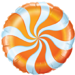 "18"" Orange Candy Swirl Foil Balloon"